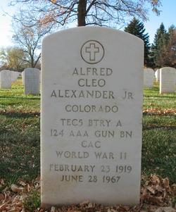 Alfred C Alexander, Jr