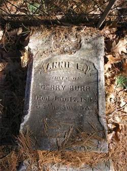 Annie E. <i>Dow</i> Burr