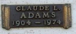 Claude L Adams