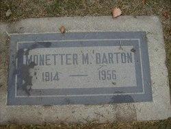 Monetter Mae <i>Manley</i> Barton