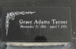 Grace <i>Adams</i> Tanner