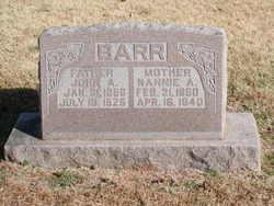Nancy Ann Nannie <i>Curtis</i> Barr