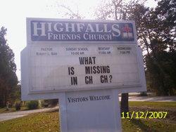 High Falls Friends Church Cemetery