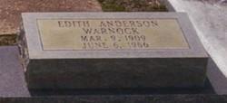 Edith <i>Anderson</i> Warnock