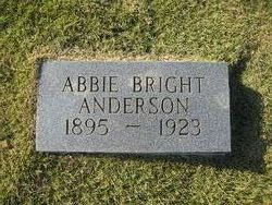 Abbie <i>Bright</i> Anderson