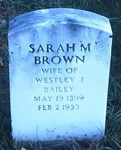 Sarah Mable <i>Brown</i> Bailey