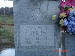 Letha <i>Willis</i> Berry