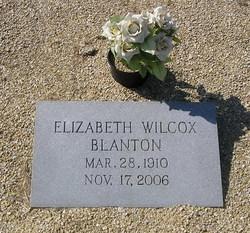 Elizabeth Bess <i>Wilcox</i> Blanton