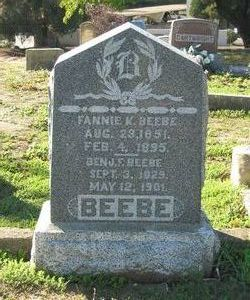 Frances Fannie <i>Kable</i> Beebe