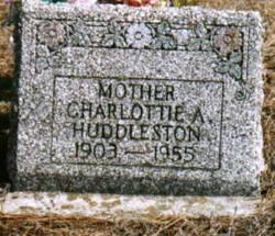 Charlottie Alma <i>Davis</i> Huddleston