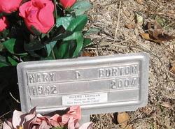 Mary D Burton