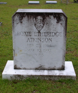 Roxie A. <i>Etheridge</i> Atkinson
