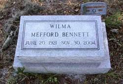 Wilma <i>Mefford</i> Bennett