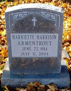Harriette <i>Harrison</i> Armentrout