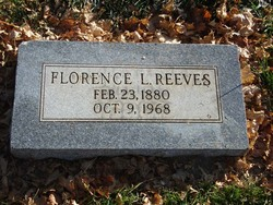 Florence <i>Lewis</i> Reeves