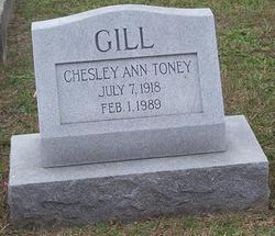 Chesley Ann <i>Toney</i> Gill