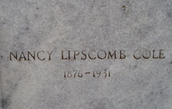 Nancy <i>Lipscomb</i> Cole