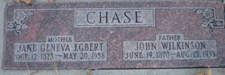 Jane Geneva <i>Egbert</i> Chase