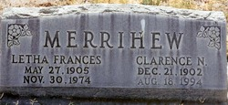 Letha Frances <i>Sherman</i> Merrihew