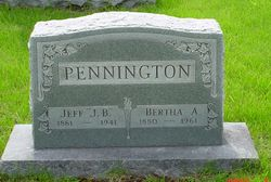 Bertha A <i>McWilliams</i> Pennington