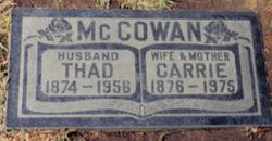 Carrie B <i>Seely</i> McCowan
