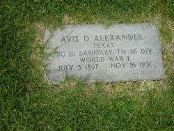 Avis D Alexander