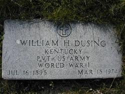 Pvt William H Dusing