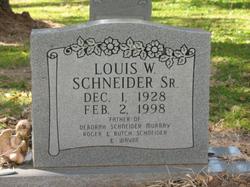 Louis Willie Schneider, Sr