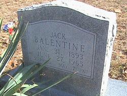 Andrew George Jackson Jack Balentine