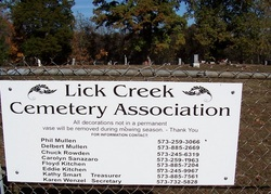 Lick Creek Cemetery