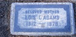 Lois Irene <i>Couts</i> Adams