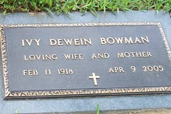 Ivy Dewein <i>Cordrey</i> Bowman
