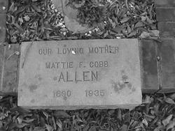 Mattie F <i>Cobb</i> Allen