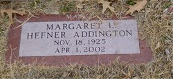 Margaret Louise Marge <i>Hefner</i> Addington