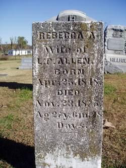 Rebecca Angeline <i>Young</i> Allen