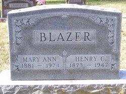 Mary Ann <i>Akers</i> Blazer