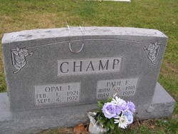 Opal I <i>Emery</i> Champ