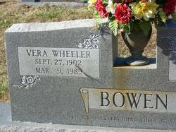 Vera <i>Wheeler</i> Bowen