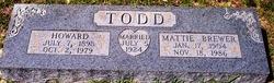 Mattie Louis <i>Brewer</i> Todd
