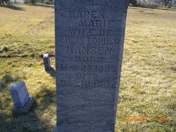 Karen Marie <i>Larsen</i> Hansen