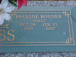Myrtice Pauline ''Polly'' <i>Bonner</i> Bass