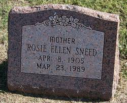 Rosie Ellen Sneed