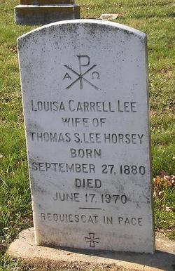 Louisa Carrell <i>Lee</i> Horsey