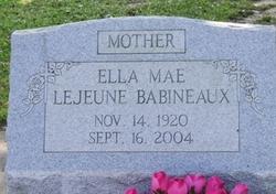 Ella Mae <i>LeJeune</i> Babineaux