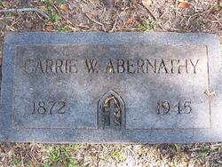 Carrie W Abernathy