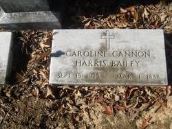 Caroline Cannon Caille or Carrie <i>Harris</i> Bailey