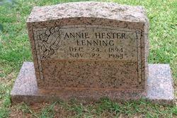 Annie <i>Hester</i> Lenning