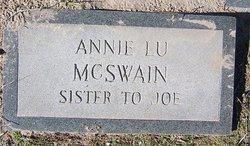 Annie Lu McSwain
