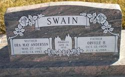 Ora May <i>Anderson</i> Swain