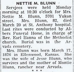 Nettie Maud <i>Barngrover</i> Blunn